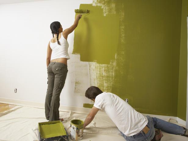 Работа с краской без СИЗ