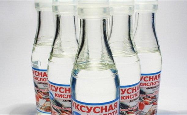 Бутылки с уксусом