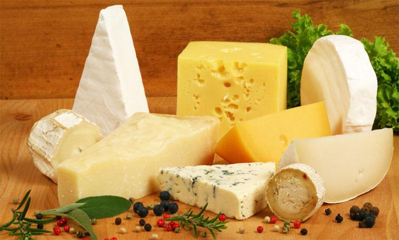 Различные сорта сыра
