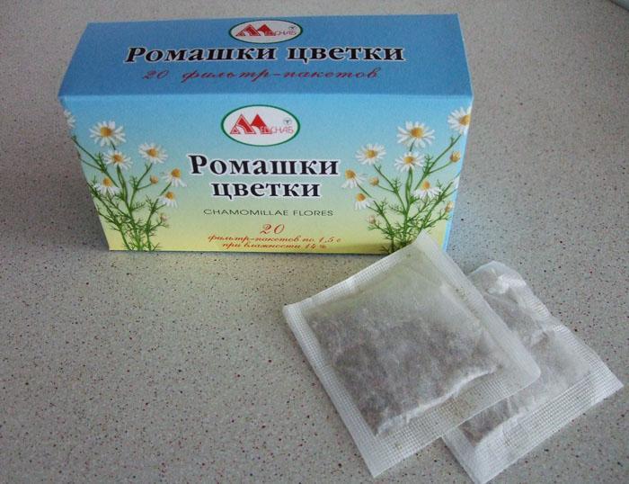 Фильтр-пакеты с ромашкой