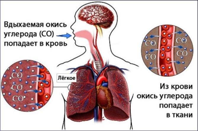 Вдыхание углекислого газа