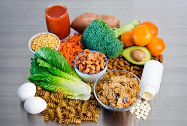 Продукты, содержащие витамин B9