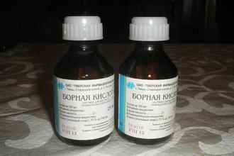 Отравление борной кислотой