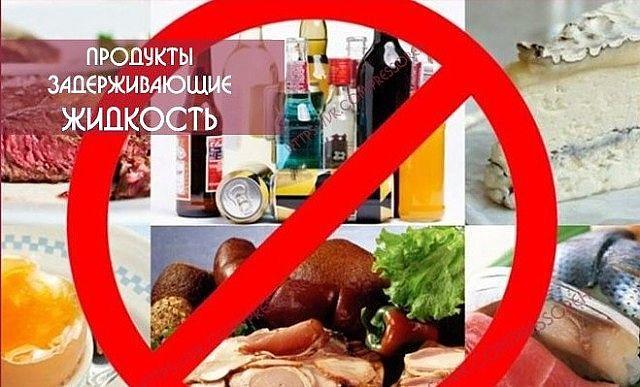 Продукты задерживающие жидкость